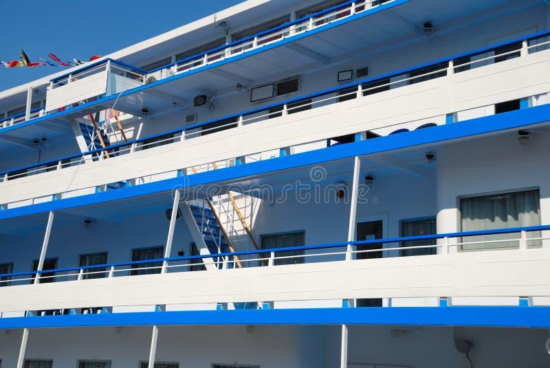 Lado do navio de passageiro foto de stock
