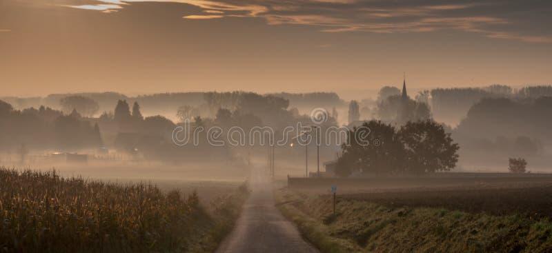 Lado do país do amanhecer foto de stock