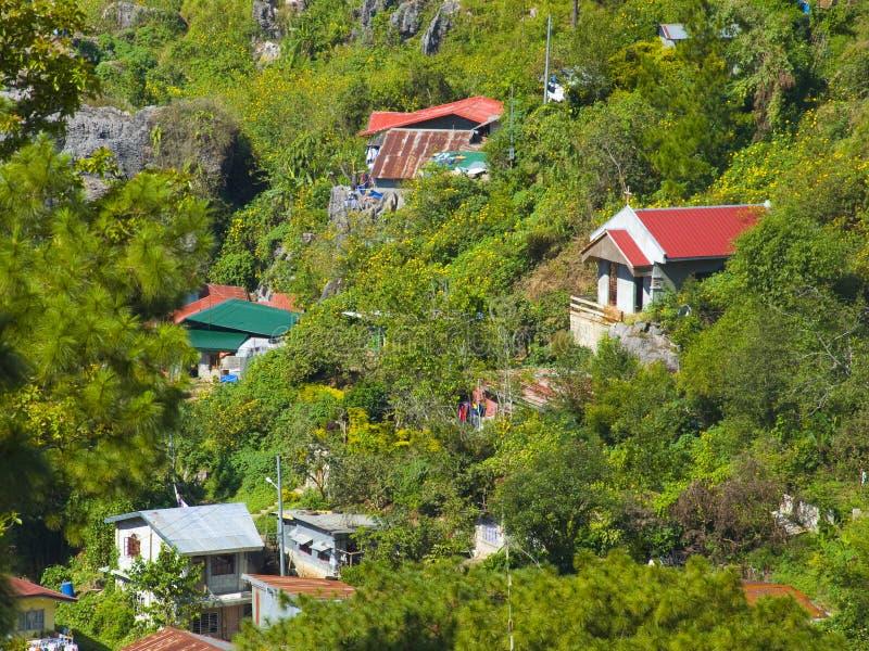 Lado do país da cidade de Baguio, Filipinas fotografia de stock royalty free