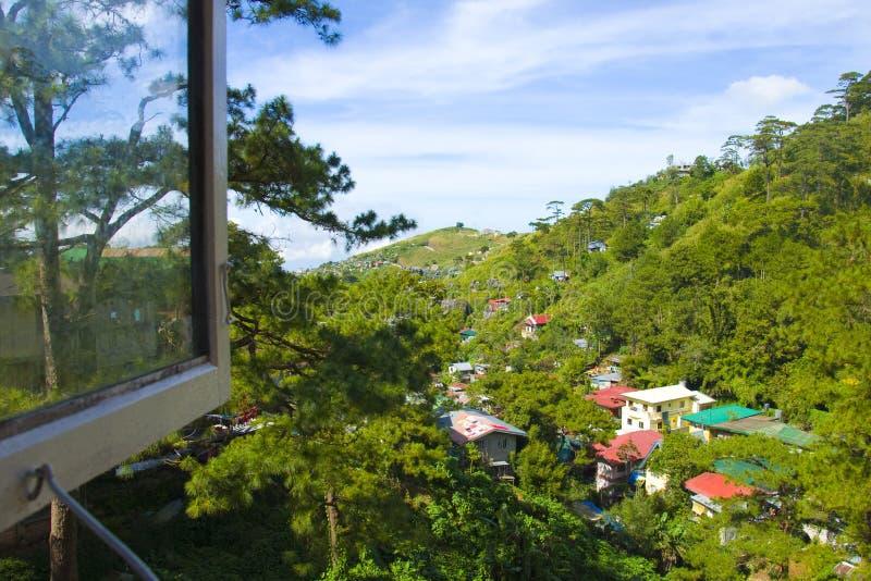 Lado do país da cidade de Baguio, Filipinas foto de stock