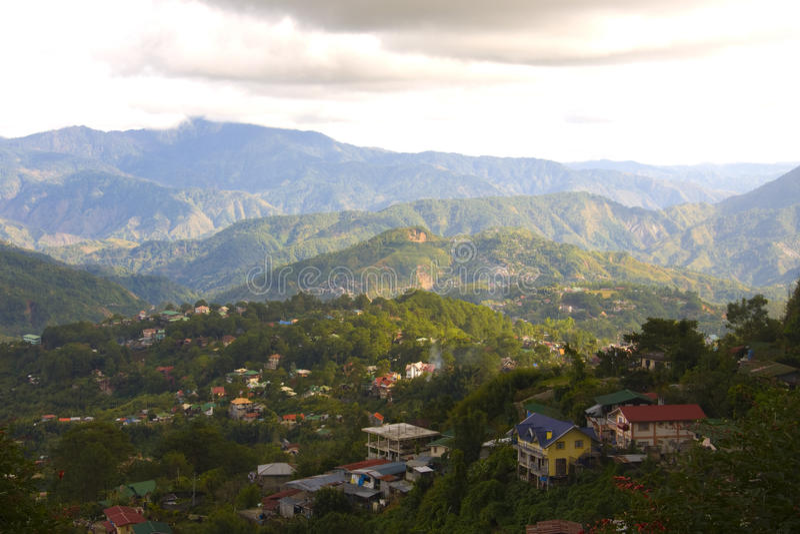 Lado do país da cidade de Baguio, Filipinas foto de stock royalty free