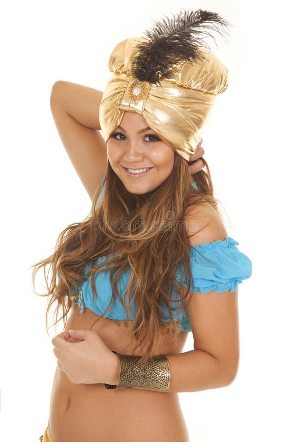 Lado do turbante da mulher fotografia de stock