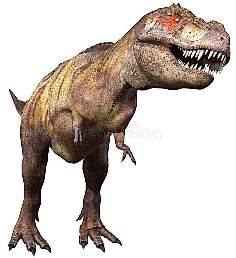 Lado do Tyrannosaurus acima ilustração royalty free