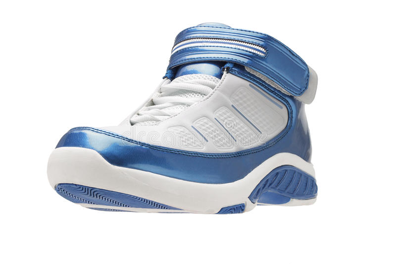 Lado esquerdo de sapatas de basquetebol imagens de stock royalty free