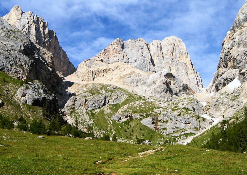 Lado meridional del top del marmolada- de dolomiti Italia fotografía de archivo libre de regalías
