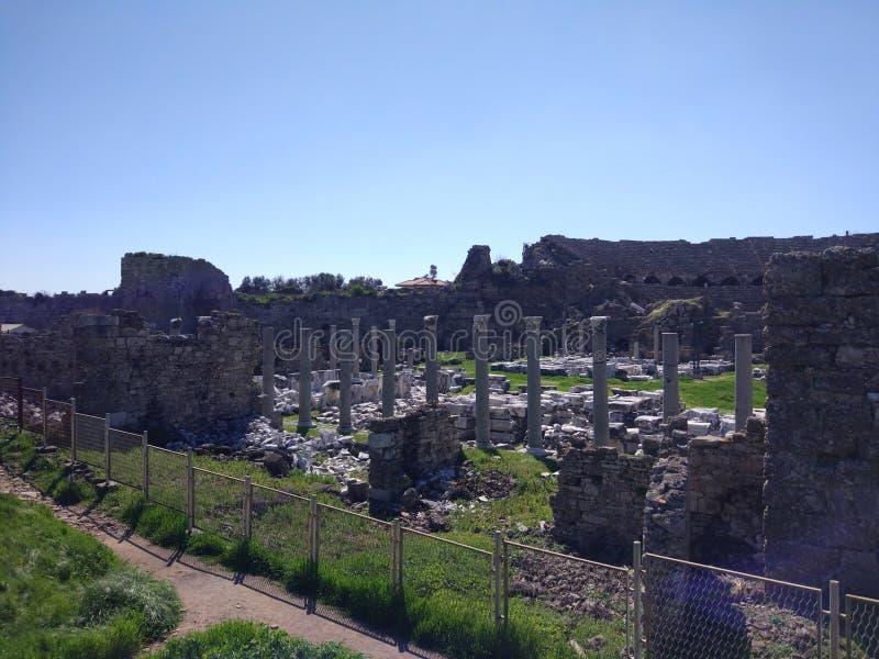 Lado monumental Antalya Turquía de la fuente imagen de archivo libre de regalías