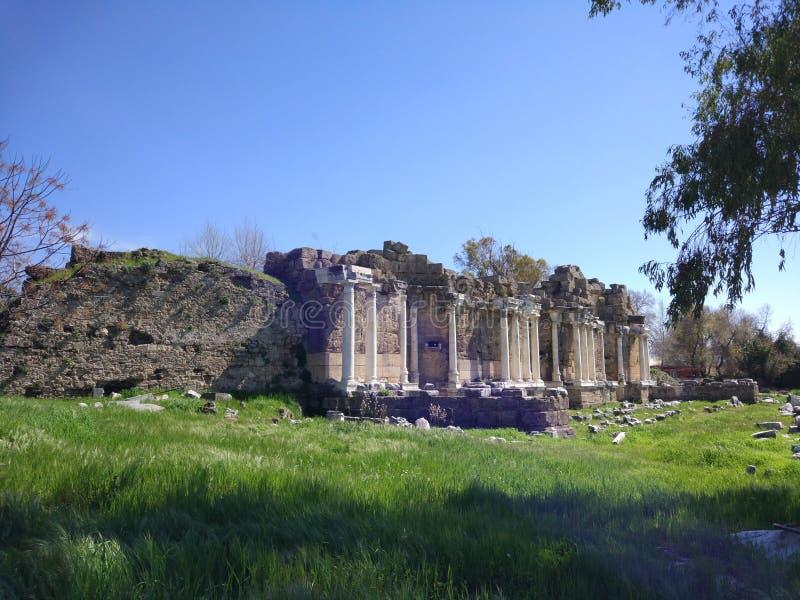 Lado monumental Antalya Turquía de la fuente fotografía de archivo