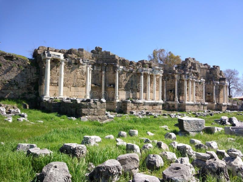 Lado monumental Antalya Turquía de la fuente foto de archivo