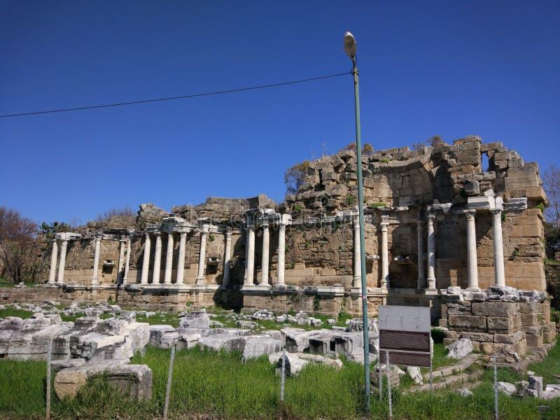 Lado monumental Antalya Turquía de la fuente fotografía de archivo libre de regalías