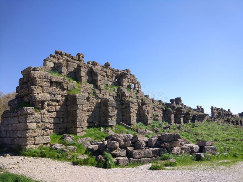 Lado monumental Antalya Turquía de la fuente fotos de archivo libres de regalías