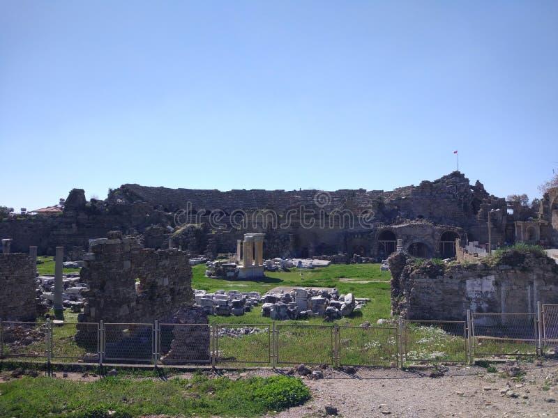 Lado monumental Antalya Turquía de la fuente imagenes de archivo