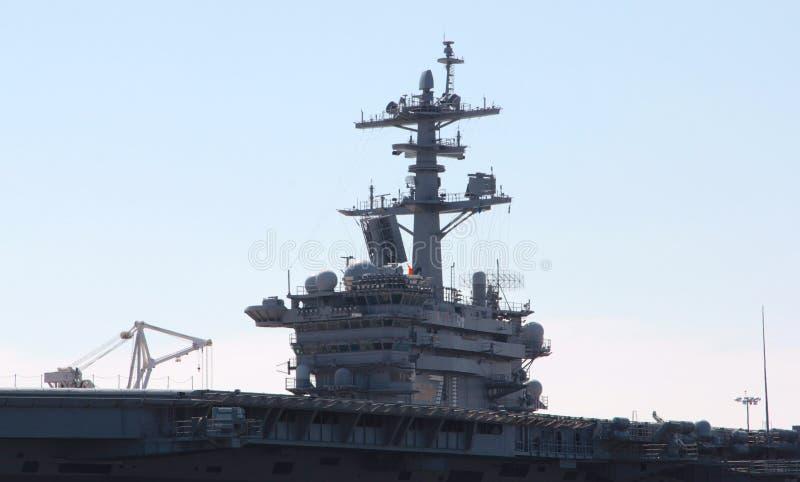 Lado Norfolk Virgínia do cais do portador do avião militar fotos de stock royalty free