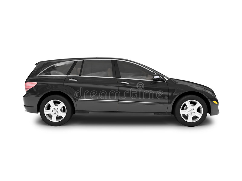 Lado preto isolado do carro ilustração do vetor