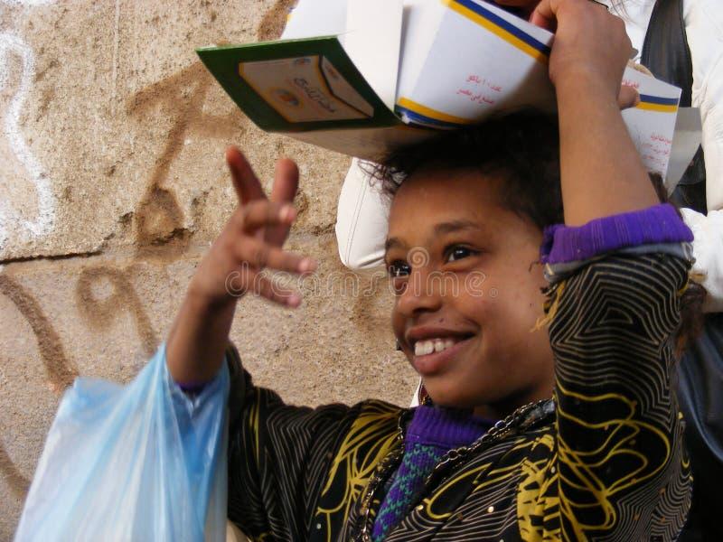 Lado rural do país da vida da ilha tradicional beduína de Dahab da mulher imagens de stock royalty free