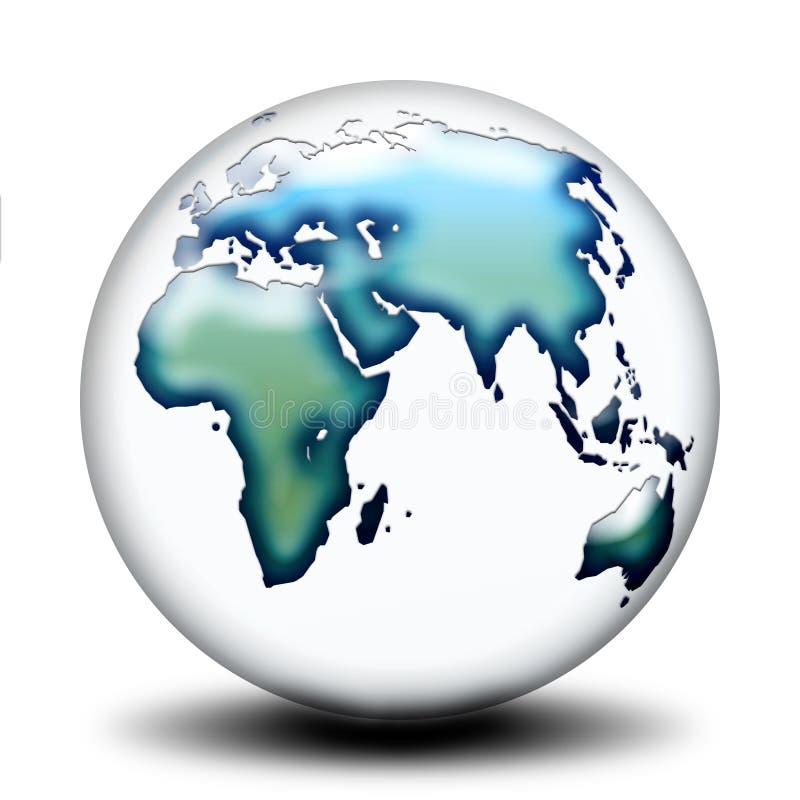 Lado transparente A do mundo ilustração stock