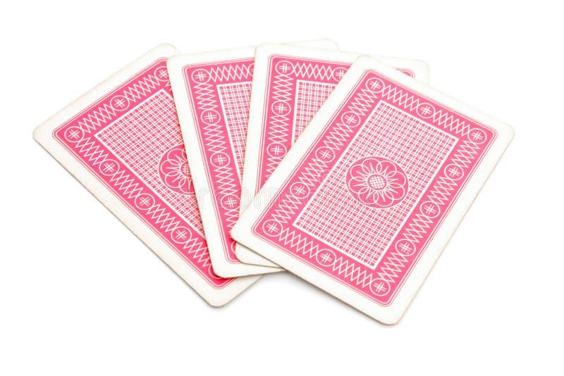 Lado traseiro de cartões do jogo fotos de stock