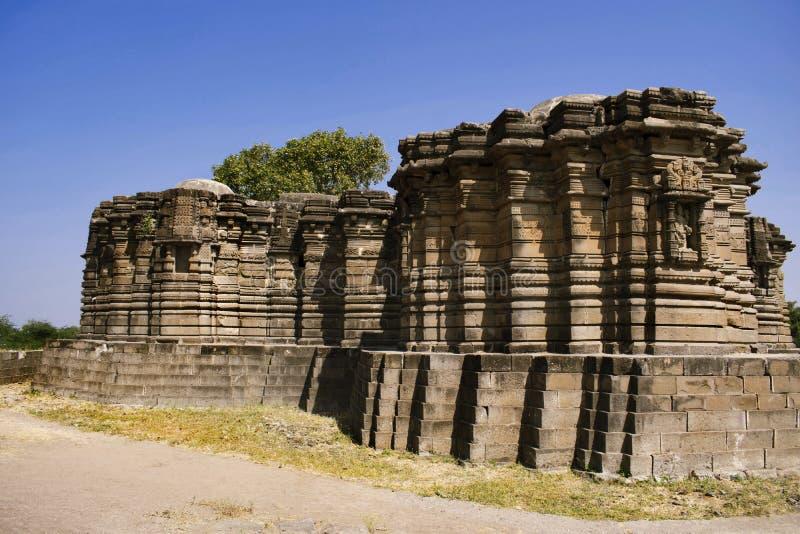 Lado trasero, templo de Anandeshwar, Lasur, Daryapur Taluka, distrito de Amravati, maharashtra, la India foto de archivo
