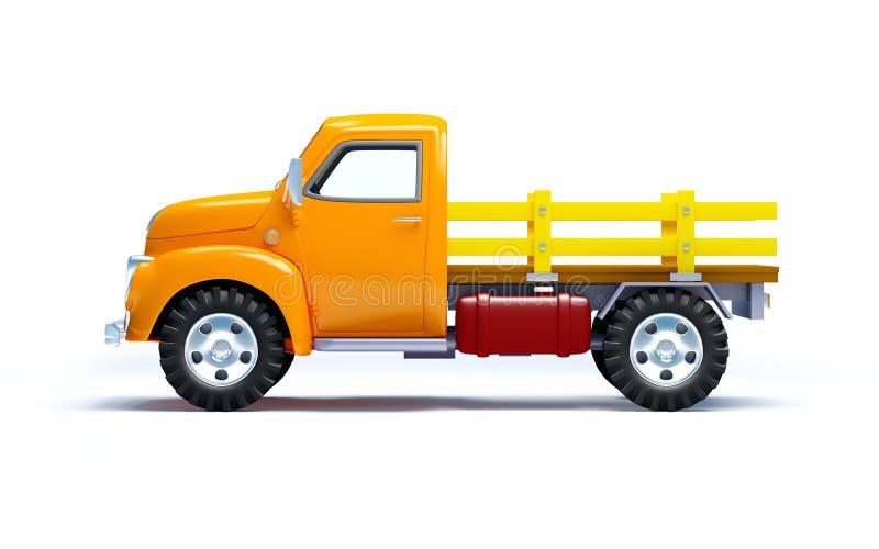 Lado velho do caminhão ilustração royalty free