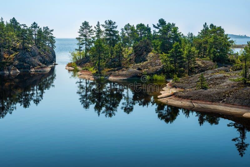 Ladoga jezioro fotografia stock