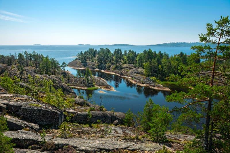 Ladoga jezioro obrazy stock