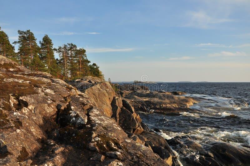Ladoga lake royalty free stock photo