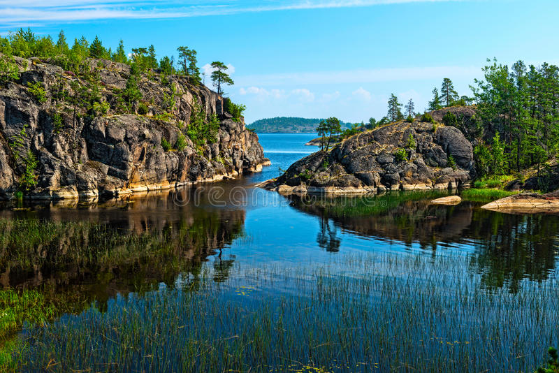Ladoga sjö royaltyfri foto