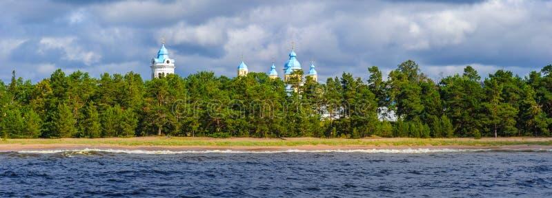 Ladoga sjö, Ryssland arkivbilder