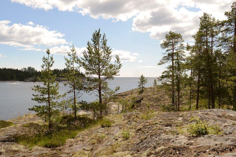 Ladoga skerries, Καρελία στοκ φωτογραφία