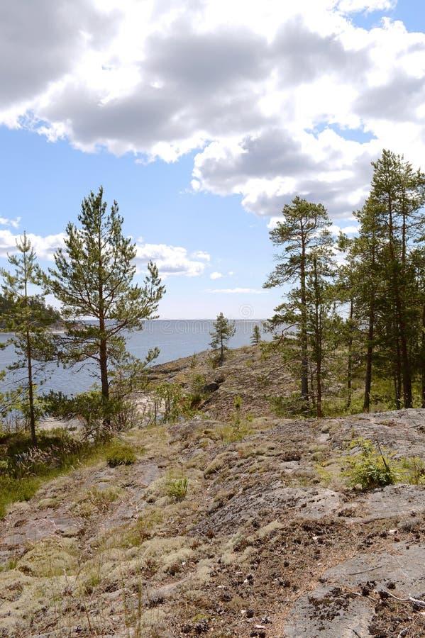 Ladoga skerries, Karelië royalty-vrije stock fotografie