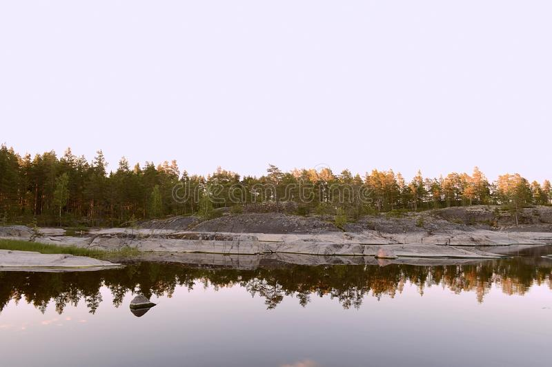The Ladoga skerries national Park in Karelia. royalty free stock images
