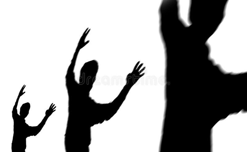 Lados de la sombra stock de ilustración