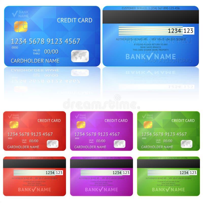 Lados do cartão de crédito dois ilustração do vetor