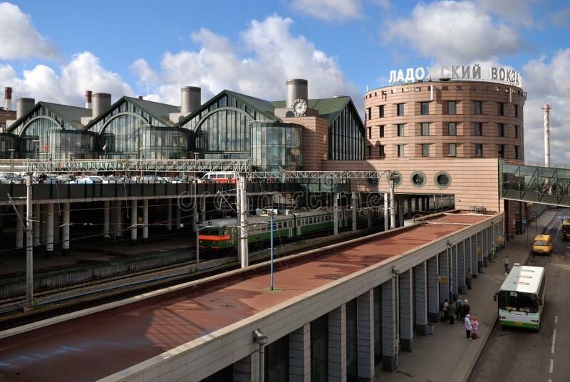 Ladozhskiy Station in St Petersburg stockfotos