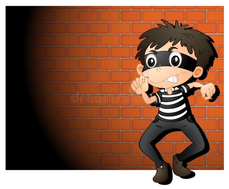 Ladrão ilustração stock