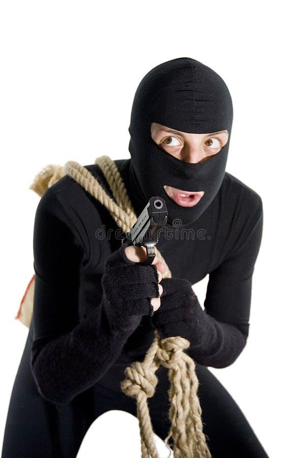 Ladrão alerta que fala a si mesmo fotografia de stock royalty free