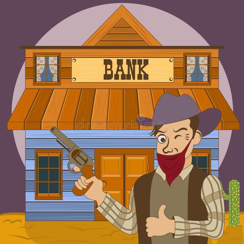 Ladrão de banco ilustração royalty free