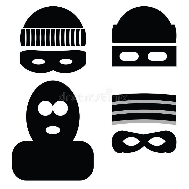 Ladrão Icons ilustração royalty free