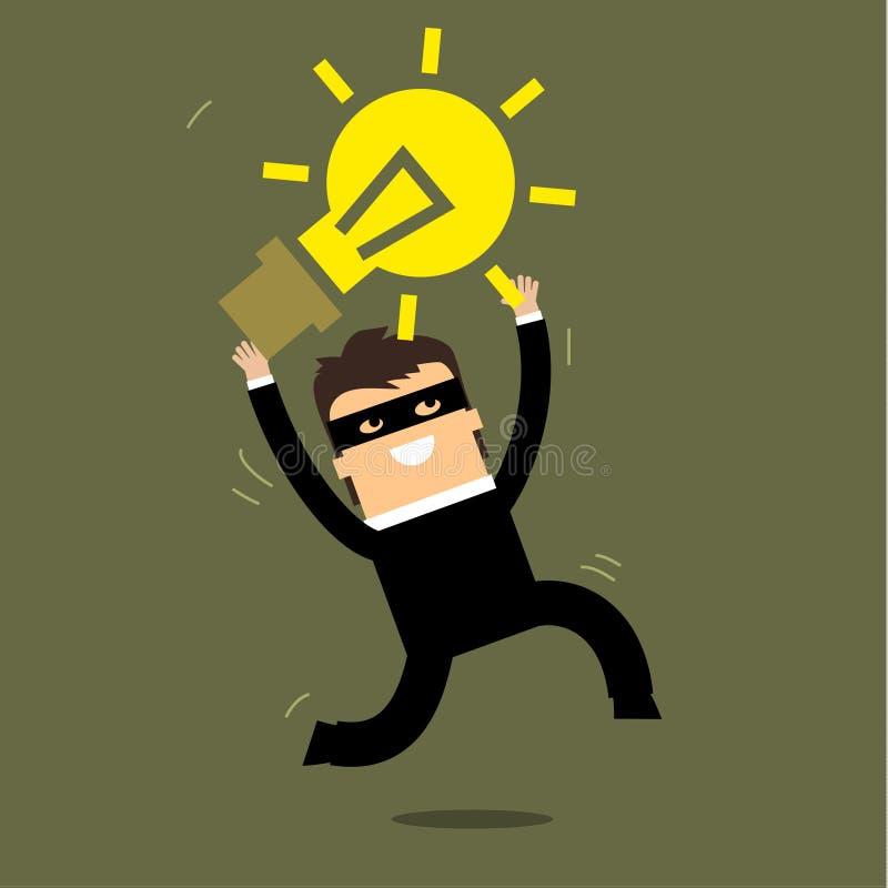 Ladrão que rouba a ideia ilustração do vetor