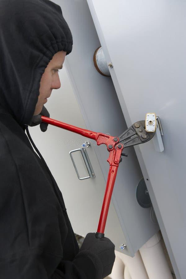 Ladrón Cutting Lock imagen de archivo libre de regalías
