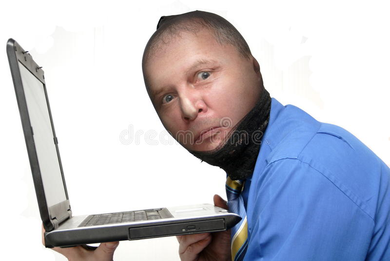 Ladrón de los datos fotografía de archivo