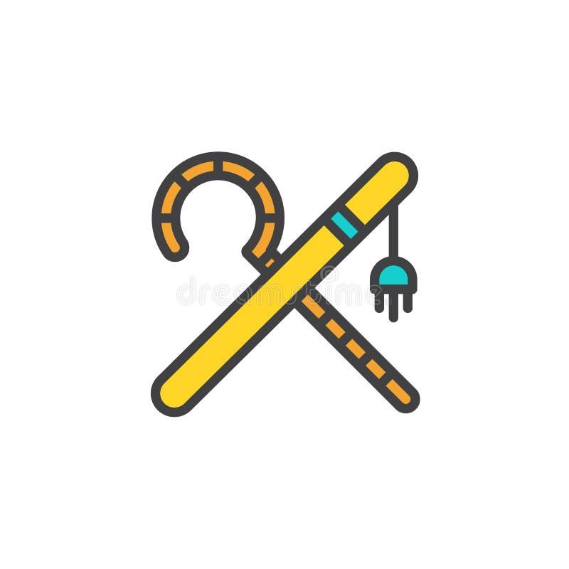 Ladrón e icono llenado mayal del esquema libre illustration