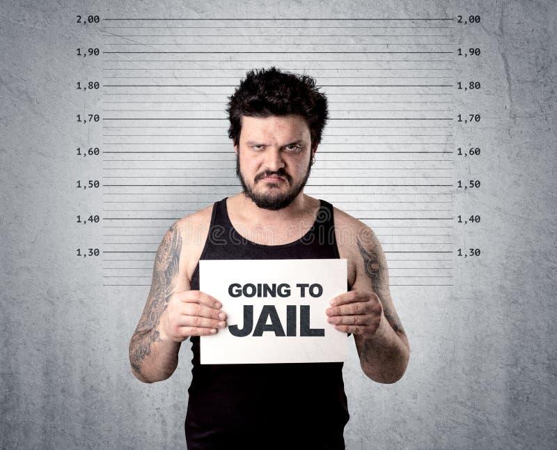 Ladrón en cárcel imagen de archivo