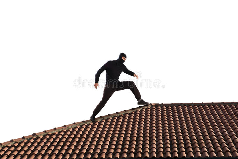 Ladrón en el tejado imagen de archivo libre de regalías