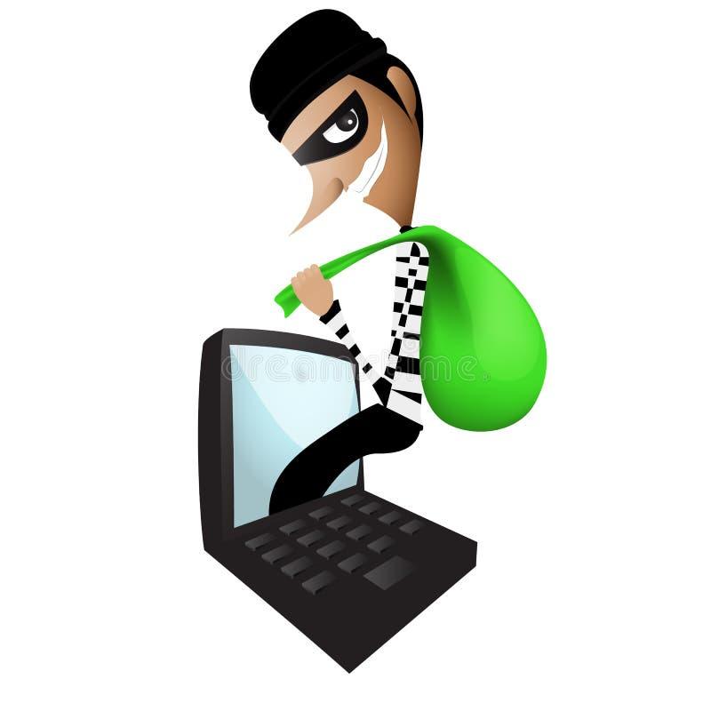 Ladrón Through Internet libre illustration