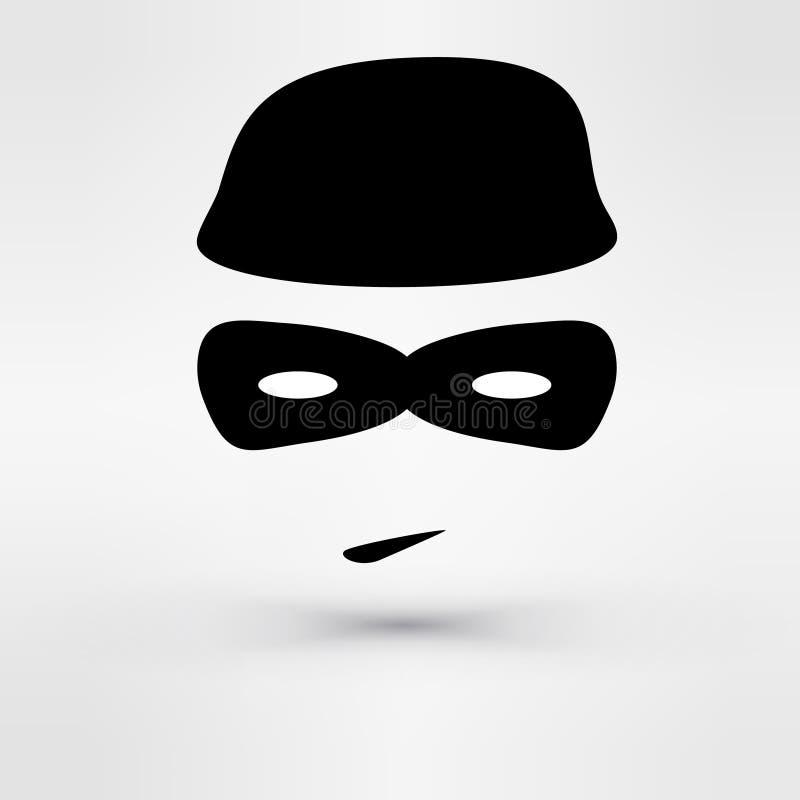 Ladrón negro del icono Vector ilustración del vector