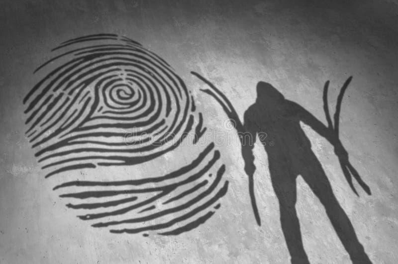 Ladrón Security Concept de la identidad libre illustration