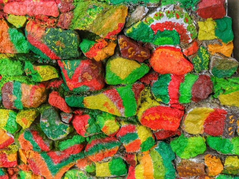 Ladrillo colorido fotografía de archivo
