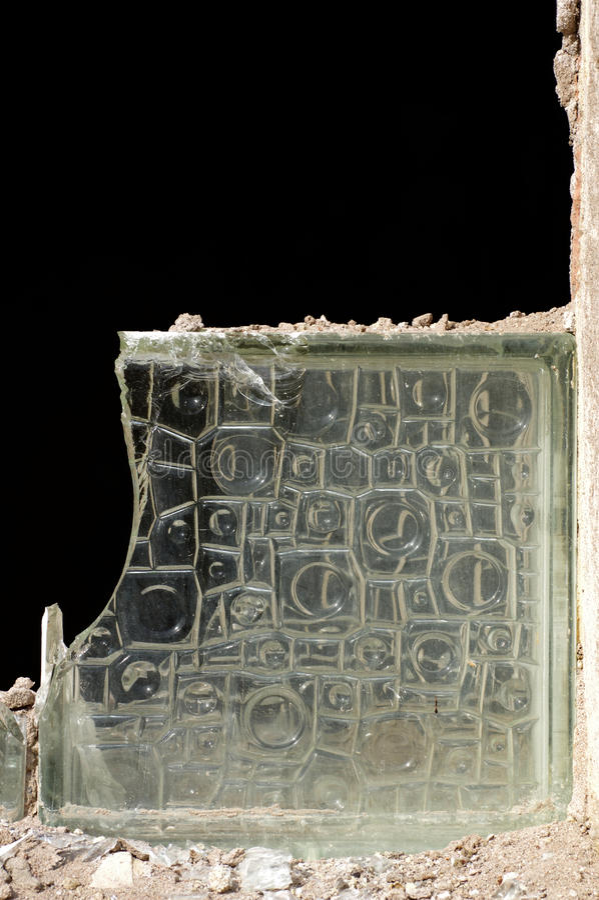 Ladrillo de cristal viejo fotos de archivo