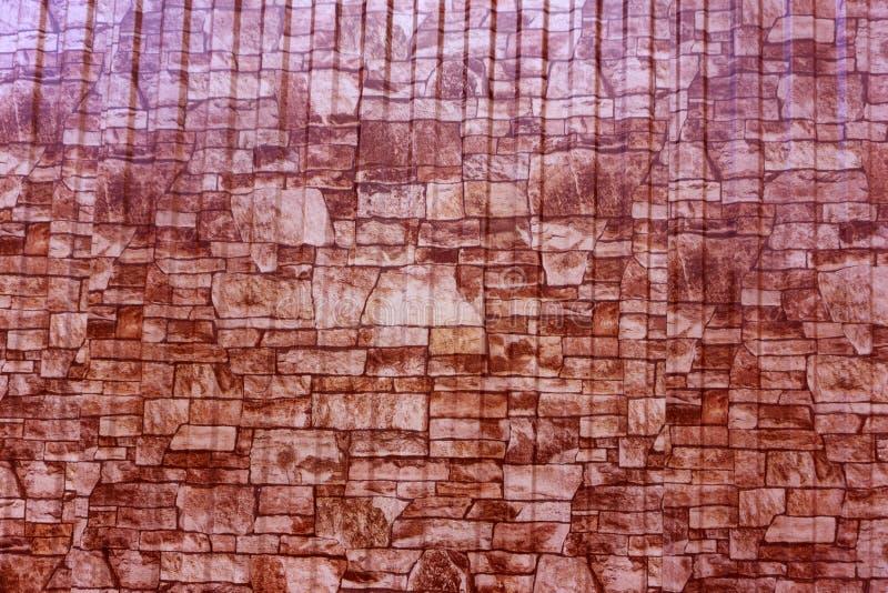 Ladrillo decorativo de textura marrón claro de la pared del fondo pequeño fotografía de archivo libre de regalías