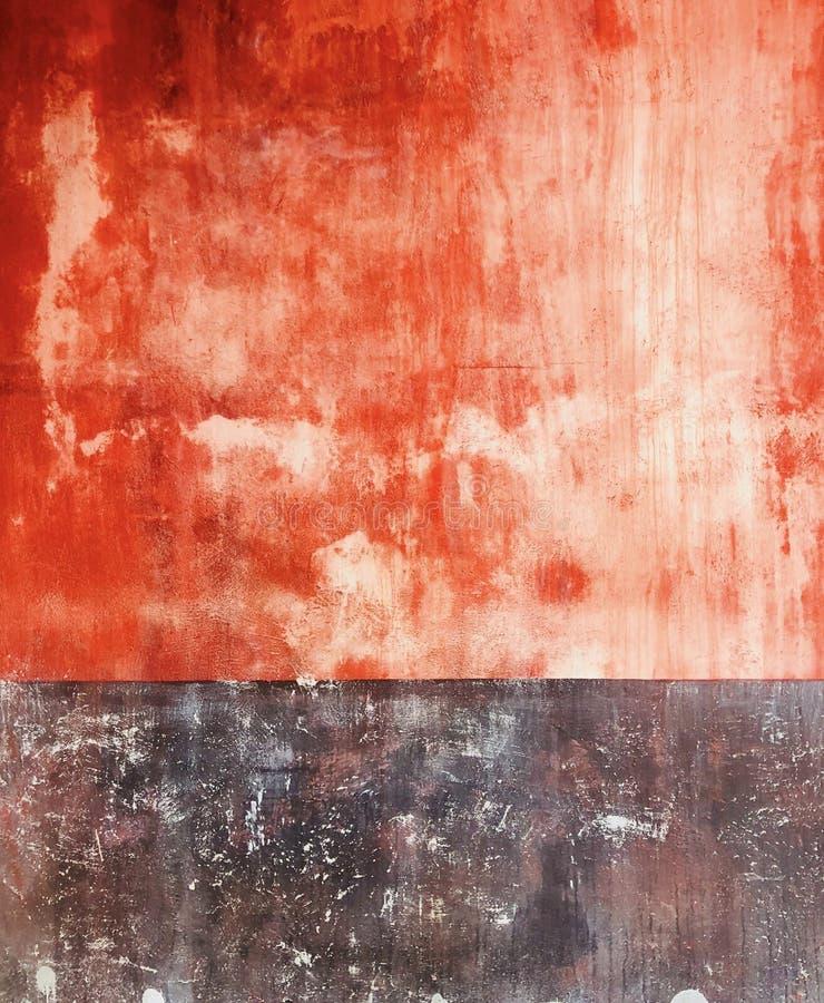 Ladrillo desigual al aire libre vibrante de Colorfull y pared marrón del vintage de la perspectiva del color fotos de archivo